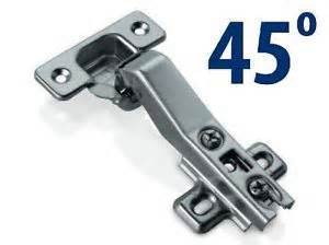 45 degree Angled Hinge - Clip on Plate