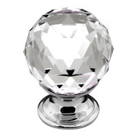 30mm Crystal knob with Chrome base