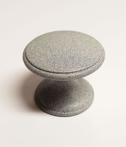 Grey metal knob 33mm