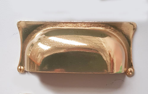 Brass Hooded Handle 90x40x32mm
