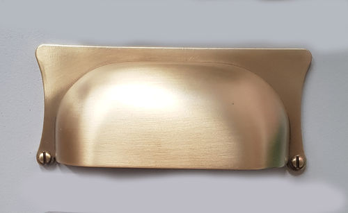 Satin Brass Hooded Handle 90x40x32mm