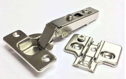 110 deg Clip on hinge - excentric plate